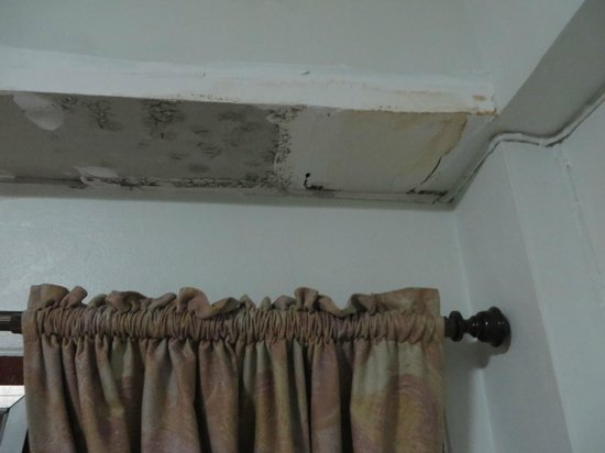 Junior Guest House : Patched drywall in need of some paint