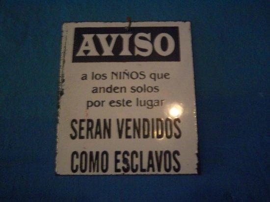 Hostal Providencia: carteles divertidos