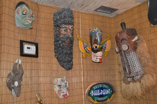 One of the inside walls at Mr. Bones
