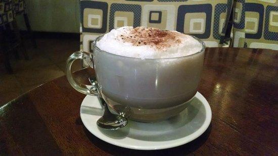 The Brick Coffee and Bar: large mocha cappuccino
