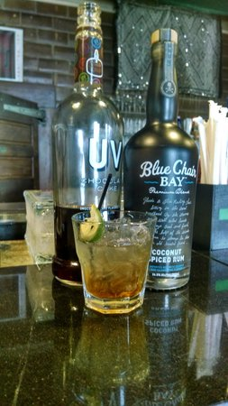 Philippe's: Restless Native, Blue Chair coconut rum, UV choclate cake, Muddled lime