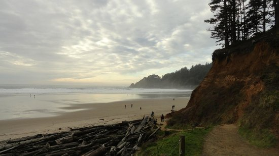Ecola Creek Lodge: Nearby beach to the motel
