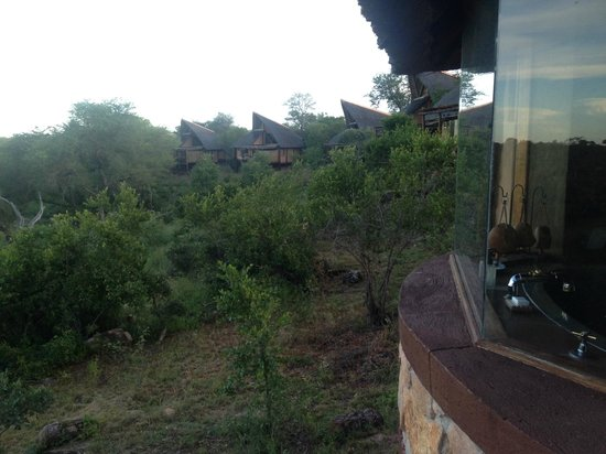 Lukimbi Safari Lodge: View from the balcony at other cabins!