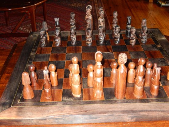 Camp Okavango: African Style Chess Set in the Suite