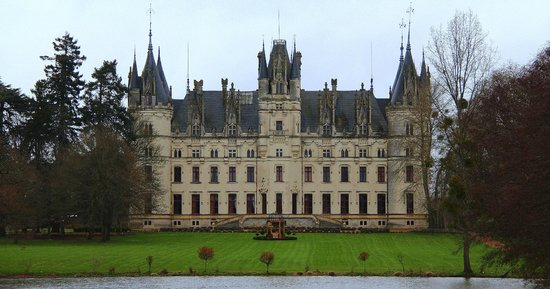 Chateau de Challain: Back of the chateau