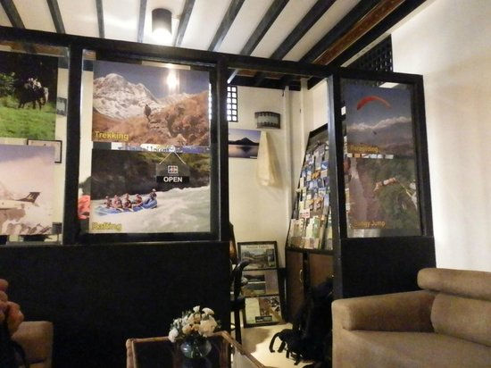 Dream Nepal Hotel and Apartment: The tour desk with information leaflets - very good!