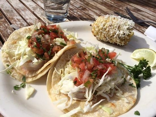 The Patio Grill: grilled shrimp tacos