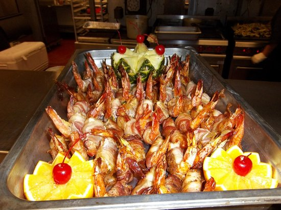 Chill Restaurant & Bar: bacon wrapped shrimp catered to our office
