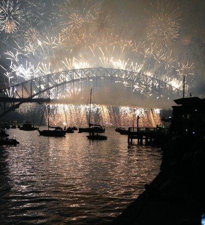 Harbourside Apartments : Midnight fireworks 31st Dec 2013