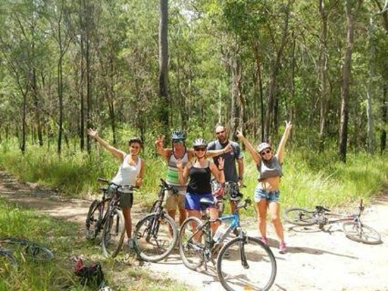 On the Wallaby Lodge: Mountain biking