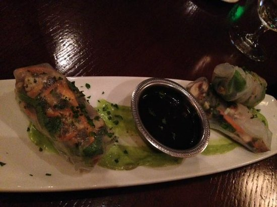 CB Grille: Chicken Spring Rolls for appetizer
