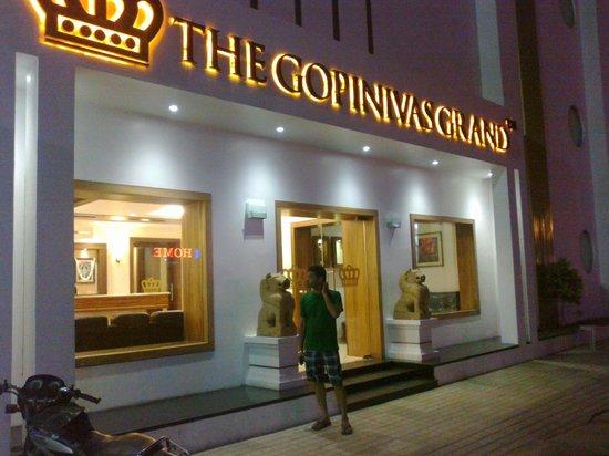 The Gopinivas Grand Kanyakumari: view from front in evening