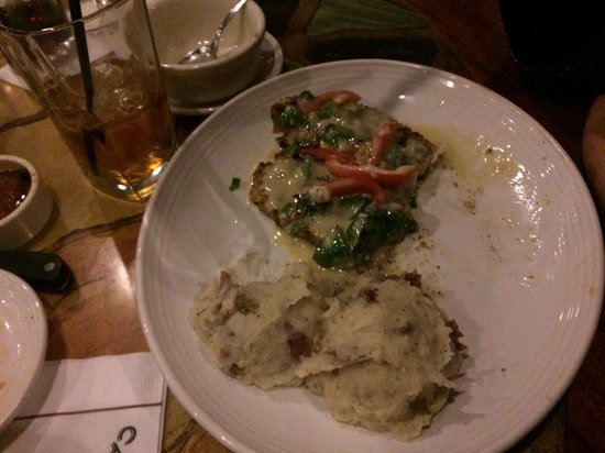 Carrabba's Italian Grill: Crusted Tilapia and garlic mashed potatoes