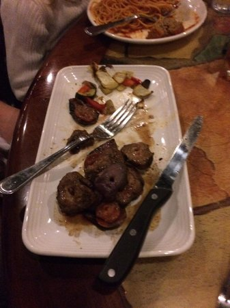 Carrabba's Italian Grill: Roasted skewers of beef and vegetables