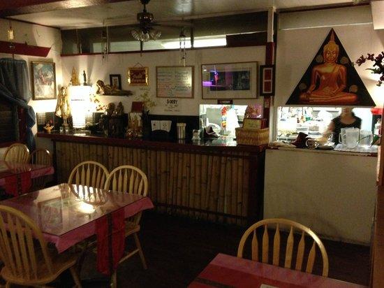 Ning's Thai Cuisine : Front area just inside the door
