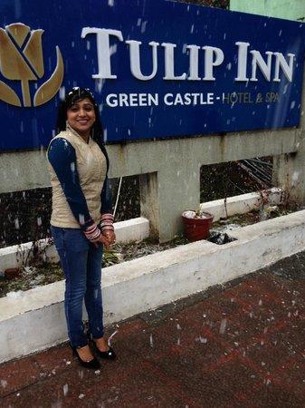 Tulip Inn Green Castle: roof car parking