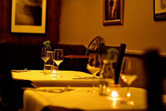 Bar Du Marche: Our downstairs restaurant is the perfect setting for a romantic dinner for two