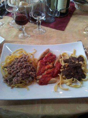 La Pesa: Tris di primi piatti...