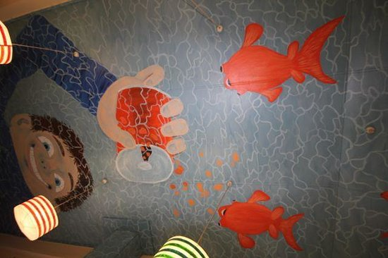 Fish Tank Lodge: Kitchen ceiling