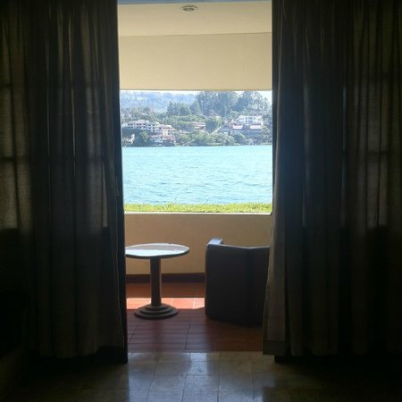 Quality Hotel Siantar Parapat : this was the view u get from the room overlooking the balcony
