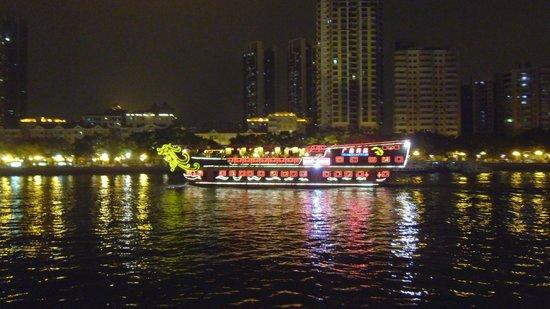 Aiqun Hotel: River Boats at Night