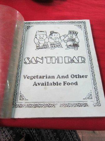 San Thi Dar Restaurant : Menu
