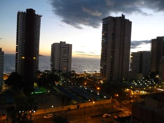 Hotel Don Pancho: View from 8th Floor at dusk.