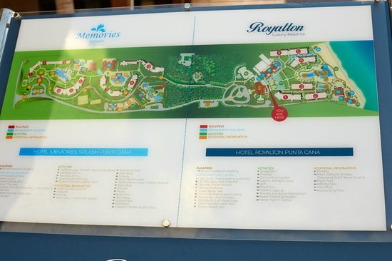 Royalton Punta Cana Resort & Casino: Карта отеля