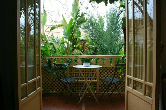 Les Jardins de la Medina : Terrace in the rainforest???