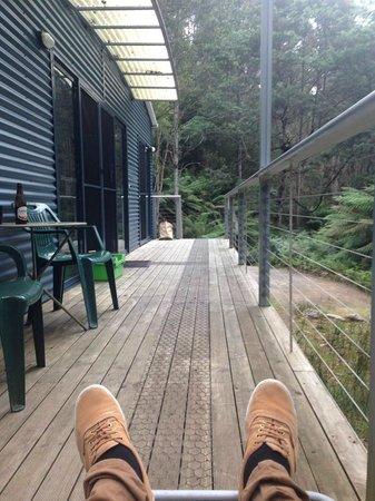 Huon Bush Retreats: Stream side deck