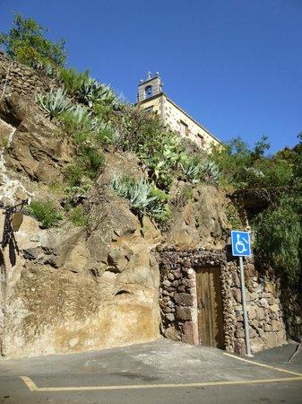 Barranco de Guayadeque : La ermita que hay en lo alto del barranco