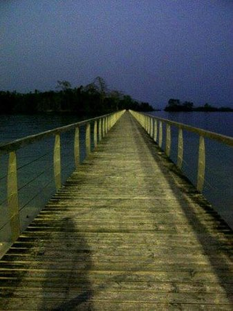Sofitel Malabo Sipopo Le Golf: Bridge to Isla Horacio, it was farther than it appeared at first