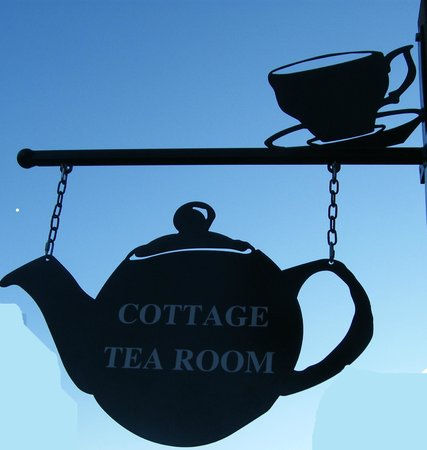 Look out for the Cottage Tea Room Sign