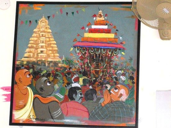 Karnataka Hotels Belur (KSTDC) : Oeuvre d'un peintre local