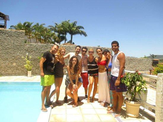 Lagoa Beach Hostel : Hostel and friends