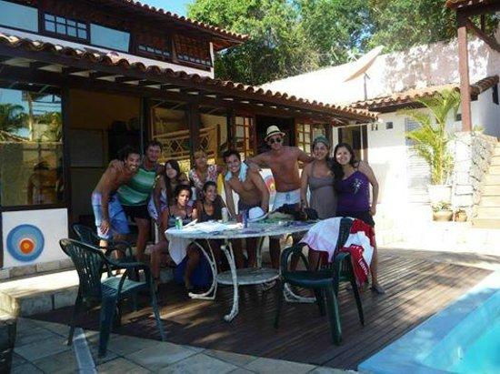 Lagoa Beach Hostel : Friends, friends, friends...