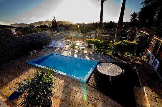 Lagoa Beach Hostel : Pool terrace