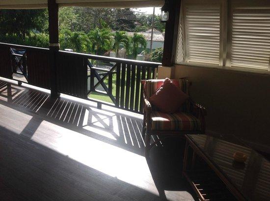 Bayfield House: The sunny first floor verandah