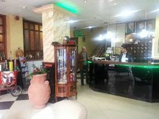 Amman Pasha Hotel: reception - with a non smoking area! great!
