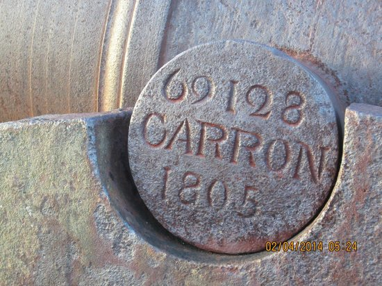 Fort James Cannons dated 1805