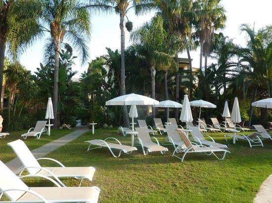 BlueBay Banus: plażowanie koło basenu