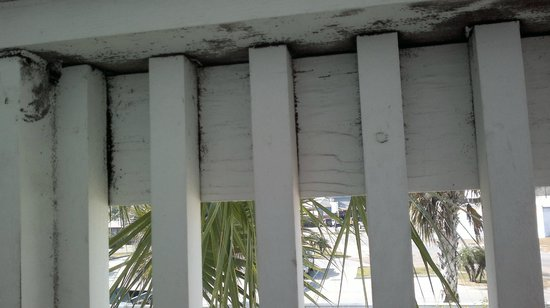 Lighthouse Inn at Aransas Bay: the black mold on the balcony