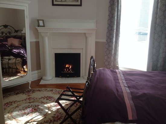 Albemarle Inn: Ribbons & Roses Fireplace