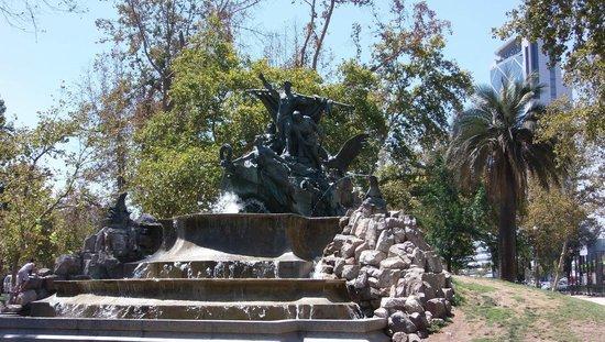 Free Walking Tour of Santiago: German Fountain
