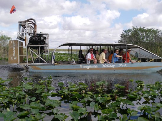 Everglades Holiday Park: one of the airboats