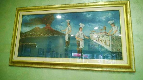 Pizzeria Giuliano : quadro nella sala interna della pizzeria