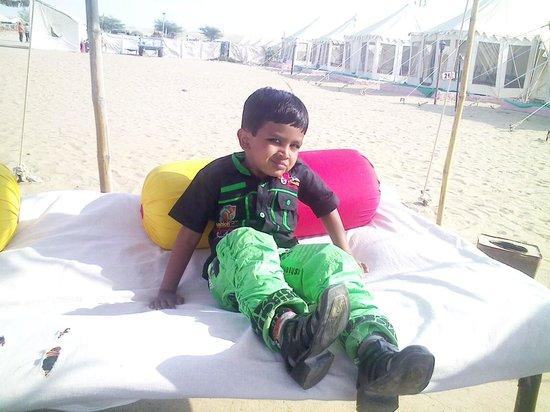 KK Resorts & Camps : Sitiing Arrangement in front of Room