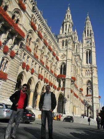Rathaus: Eu e meu amigo Leo