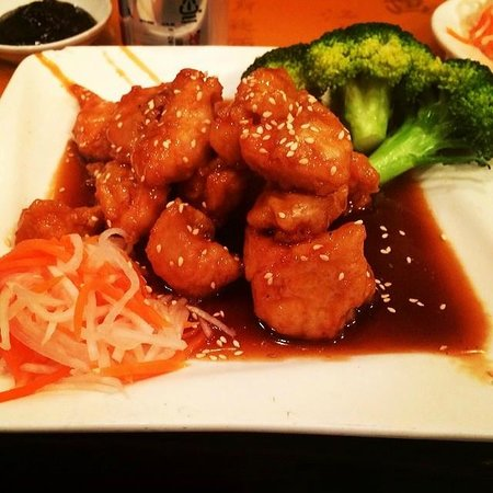 China Village Restaurant: The delicious Sesame chicken dish!