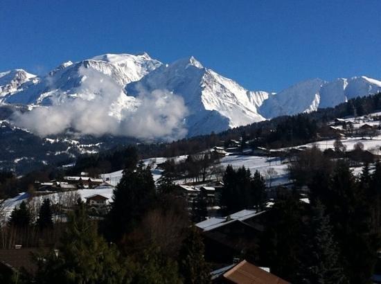 Hotel restaurant LES GRANITS: Vue du balcon: Mont Blanc !
